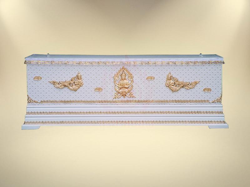 หีบผ้าลูกไม้ครึ่งใบฐาน 2 ชั้น