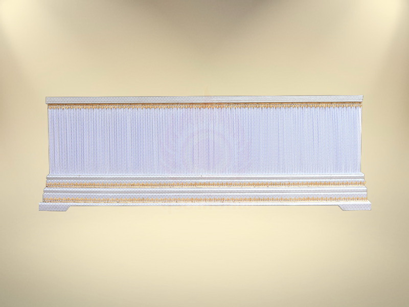 หีบบุผ้าตาดเงินย่นฐาน 2 ชั้น