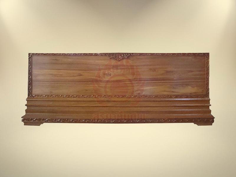 หีบไม้สักฐาน 3 ชั้นติดลาย