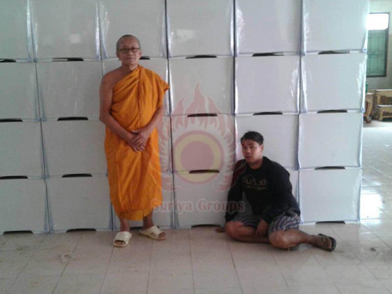 บริจาคโลงศพ วัดชะอม จ.ปราจีนบุรี หีบศพ โลงศพ สุริยาหีบศพ suriya