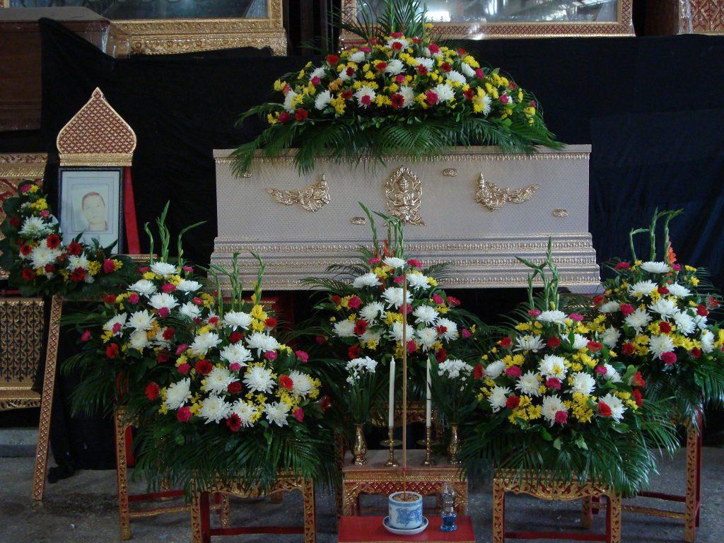 ดอกไม้หน้าศพ สุริยาหีบศพ หีบศพ โลงศพ จัดดอกไม้หน้าศพ