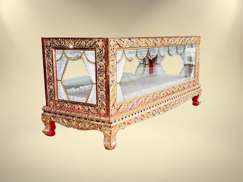 หีบกระจกทอง ขายโลงศพกระจกทอง จำหน่ายโลงศพทุกรุปแบบ