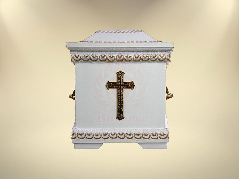 หีบคริสต์ (หกเหลี่ยม) หีบศพ โลงศพ จำหน่ายหีบศพ โลงศพ