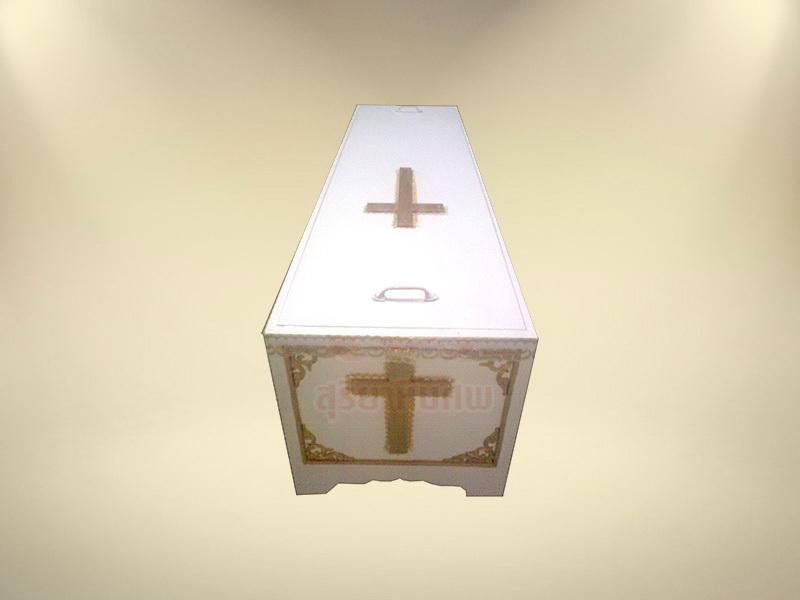 ทำพิธีคริสต์ หีบคริสต์ (หกเหลี่ยม) หีบศพ โลงศพ จำหน่ายหีบศพ โลงศพ