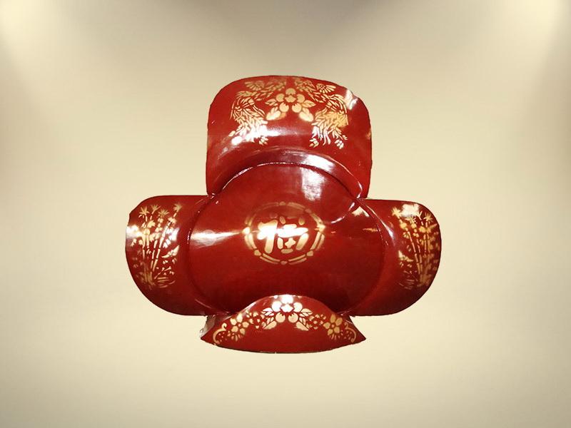 หีบจำปา (สีแดง) โลงจำปา ทำพิธีจีน ขายโลงศพจีน