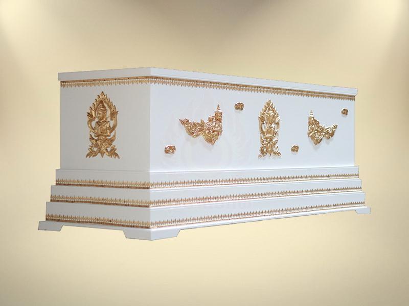 หีบเทพพนมฐาน 3 ชั้น หีบศพ โลงศพ ขายโลงศพ จำหน่ายโลงศพ
