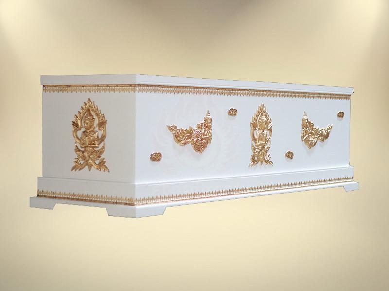 หีบเทพพนมฐาน 1 ชั้นราคา หีบศพ โลงศพ จำหน่ายโลงศพ โลงศพคุณภาพ