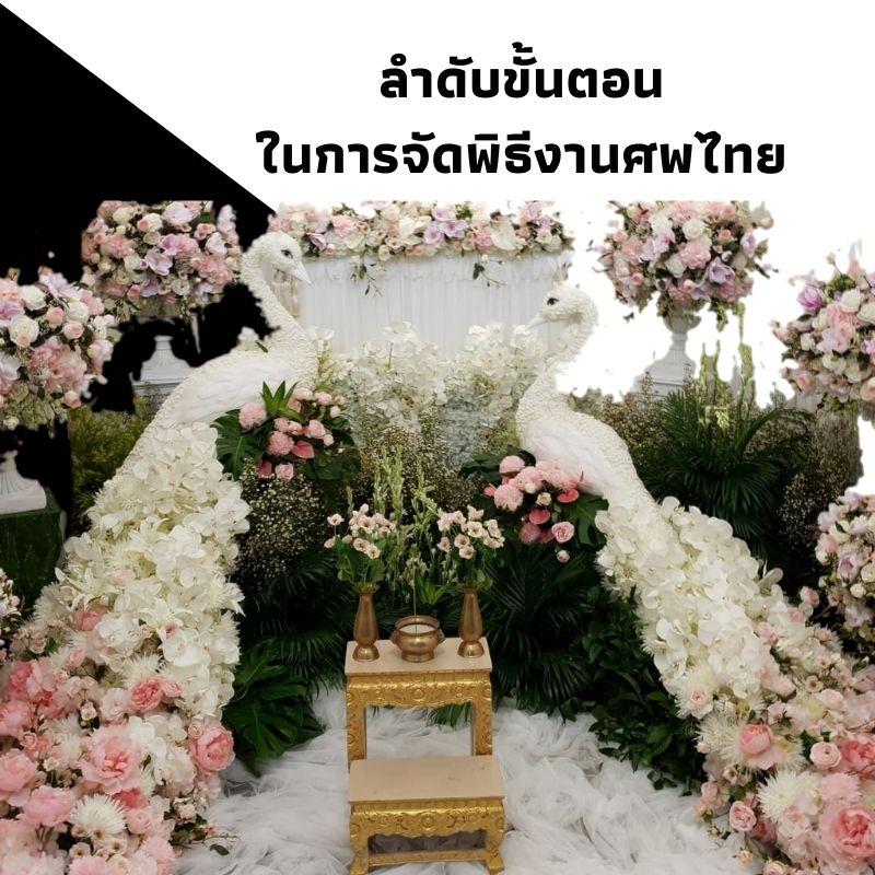 ลำดับขั้นตอนในการจัดพิธีงานศพไทย
